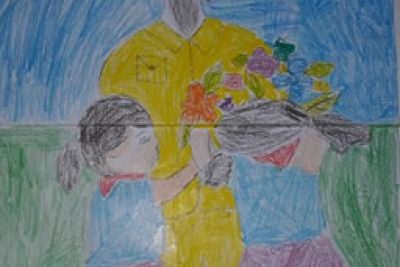 """Một số bài vẽ tham gia cuộc thi"""" Bác Hồ với thiếu nhi- thiếu nhi với Bác hồ"""""""